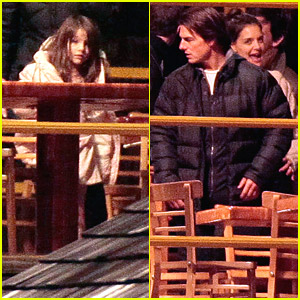 Katie Holmes & Suri Cruise Visit 'Mission:Impossible 4'
