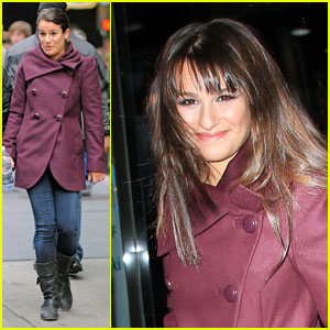 Lea Michele Gets Ready for 'New Year's Eve'