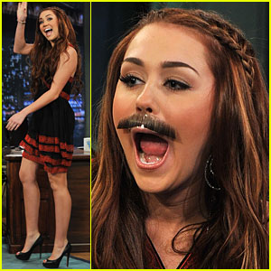 Miley Cyrus: Mustache Mania!