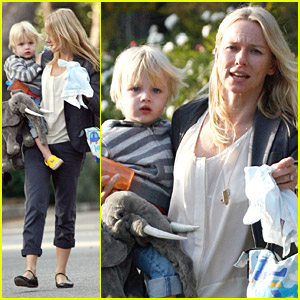 Naomi Watts Has Her Hands Full