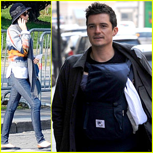 Miranda Kerr & Orlando Bloom: Parisian Pair