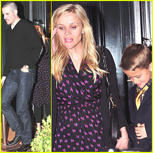 Reese Witherspoon: Brentwood Birthday Dinner!