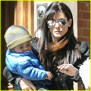 Sandra Bullock: Day Out with Louis!