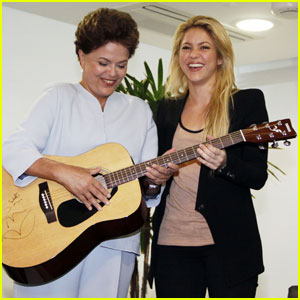 Shakira Meets Brazilian President Dilma Rousseff