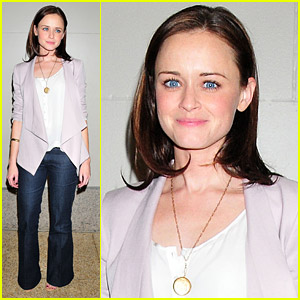 Alexis Bledel Visits 'The Seven'