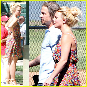 Britney Spears: Baseball Game with Jason Trawick!