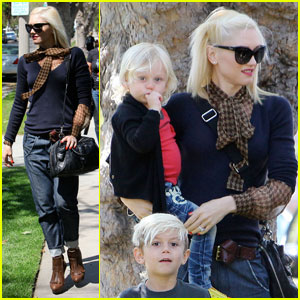 Gwen Stefani, Kingston &#038; Zuma Go to Grandma's