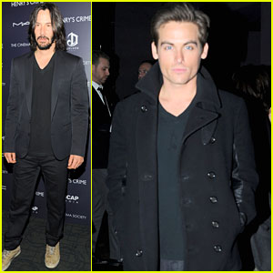 Keanu Reeves & Kevin Zegers: 'Henry's Crime' Premiere!