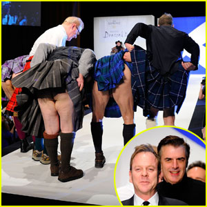Kiefer Sutherland & Chris Noth: Dressed to Kilt Flashers!
