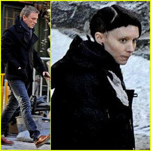 Daniel Craig & Rooney Mara: 'Tattoo' Twosome in Sweden