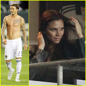 David Beckham: Galaxy Game with Victoria & The Boys!