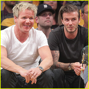 David Beckham & Gordon Ramsay Watch The Lakers Lose
