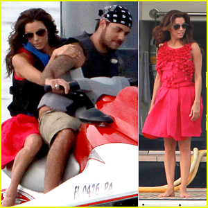 Eva Longoria: Jet Skiing with Eduardo Cruz!