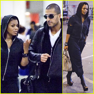 Janet Jackson: Heathrow Airport with Wissam Al Mana