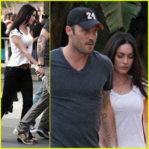 Megan Fox: Lakers Game 2 with Brian Austin Green