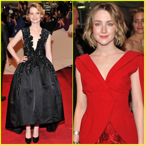 Mia Wasikowska - MET Ball 2011 with Saoirse Ronan