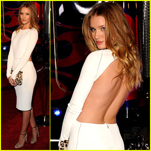Rosie Huntington-Whiteley: Back Baring Dress at Maxim Party!