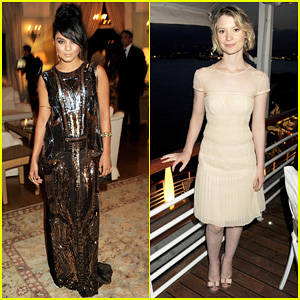 Vanessa Hudgens & Mia Wasikowska: Finch's Quarterly Dinner!