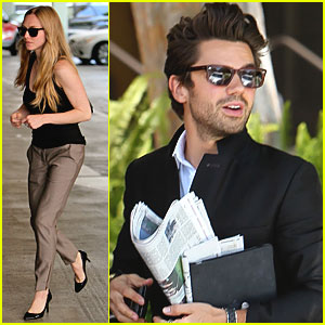Amanda Seyfried: Burberry Boutique with Dominic Cooper