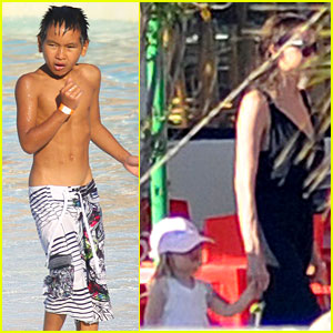 Angelina Jolie &#038; Brad Pitt: Water Park with the Kids!