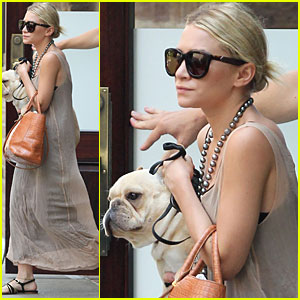 Ashley Olsen Steps Out with Pet Pooch
