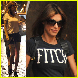 Elisabetta Canalis: Girls' Night Out in Rome!