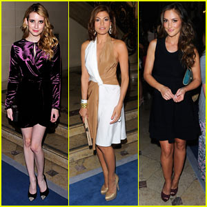 Emma Roberts & Minka Kelly: Ferragamo Fashion Show!