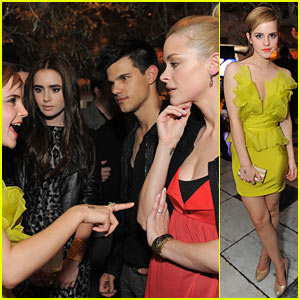 Emma Watson & Jaime King: Taylor & Lily Sandwich!