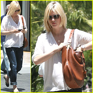 January Jones: Century City Stop