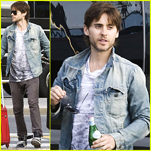 Jared Leto: Czech Republic Airport Arrival