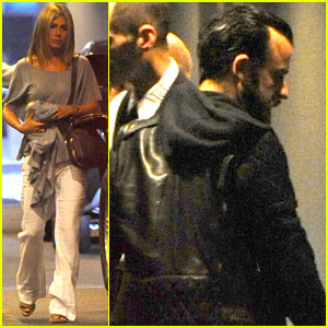 Jennifer Aniston: Waldorf-Astoria Arrival with Justin Theroux!