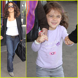 Salma Hayek: LAX with Valentina!