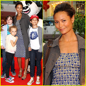 Thandie Newton: 'Kung Fu Panda 2' Premiere with the Kids!