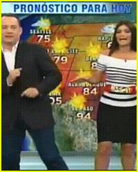 Tom Hanks: Weather Segment on Spanish TV!