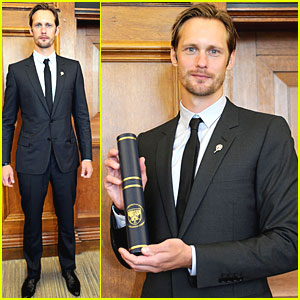 Alexander Skarsgard: Graduation Ceremony in Leeds