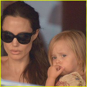 Angelina Jolie Takes Her Little Ones Bowling