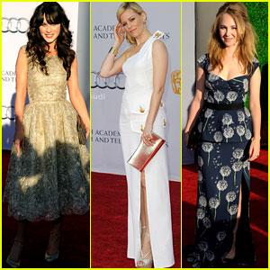 Zooey Deschanel & Juno Temple - BAFTA Brits to Watch Gala