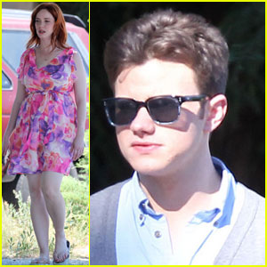 Chris Colfer & Christina Hendricks Get 'Struck By Lightning'