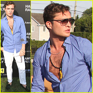 Ed Westwick: Hamptons Rally with Ferrari!
