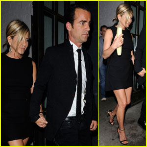 Jennifer Aniston: Shoreditch House with Justin Theroux!