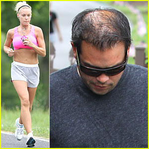 Kate Gosselin: Pink Sports Bra!