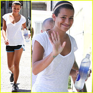 Lea Michele: Awesome Workout at the Gym