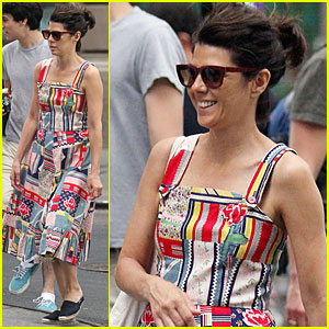 Marisa Tomei: Patchwork Dress in Soho