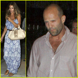 Rosie Huntington-Whiteley: Nobu with Jason Statham!
