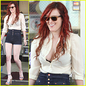 Rumer Willis Rocks High Waisted Shorts