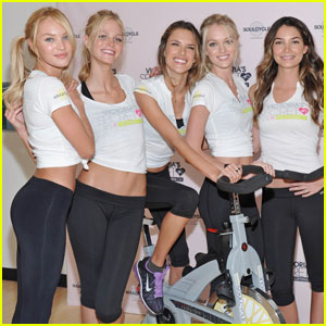 Alessandra Ambrosio: SoulCycle Charity Bike Ride!