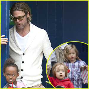 Brad Pitt: Mr. Popper's Penguins Screening with the Kids!