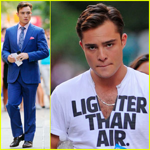 Ed Westwick Is 'Lighter Than Air'