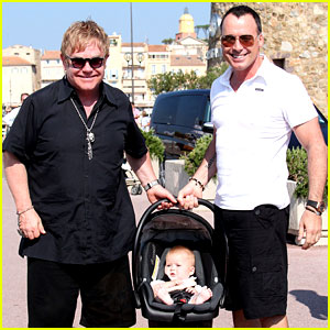 Elton John & David Furnish: St. Tropez with Baby Zachary!