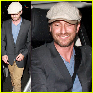 Gerard Butler Parties at Playhous